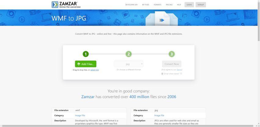 convert WMG to JPG format-Zamzar