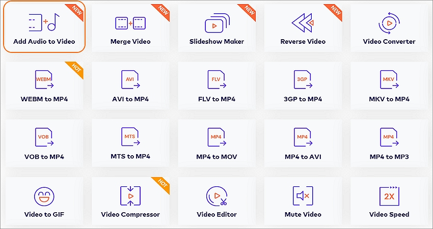 add audio to video step 1