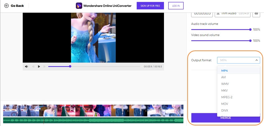 Preview your video and convert
