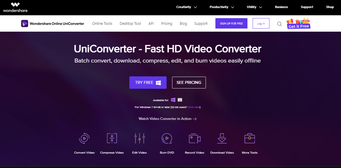 Wondershare Online Uniconverter