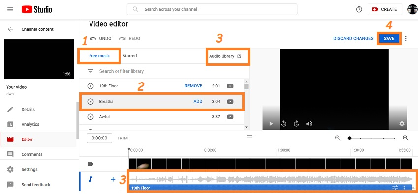 add music to video on youtube