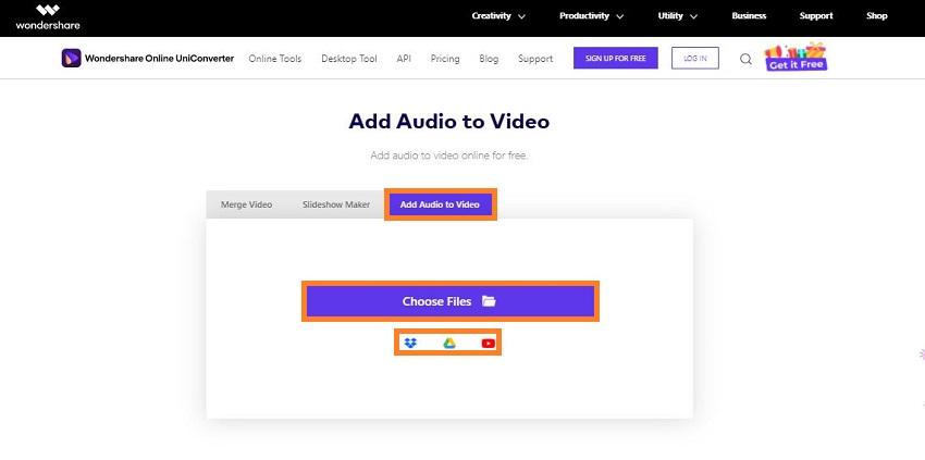 add video to online uniconverter
