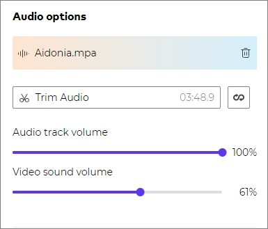 Personalize your slideshow with background audio