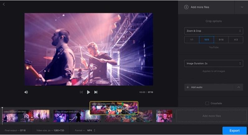 Clideo video merger