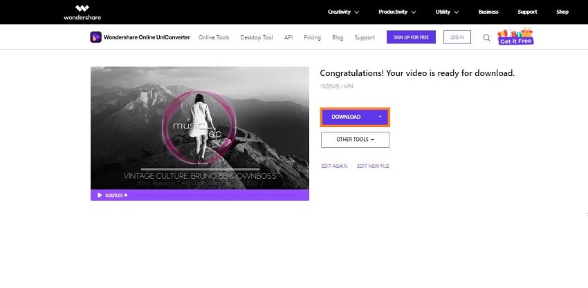 download video from online uniconverter