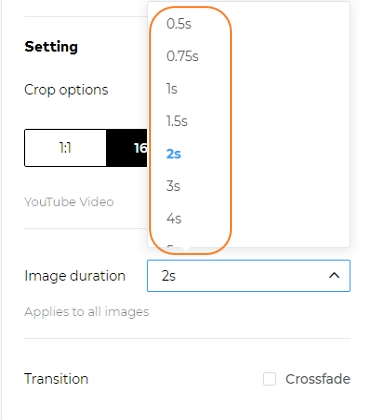 Customize slide playback duration