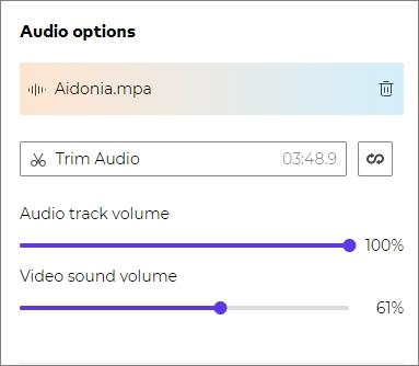 Apply befitting background audio