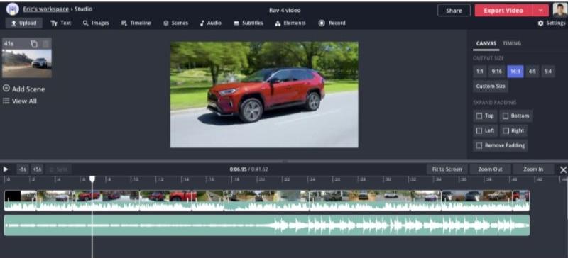 Kapwing video editor