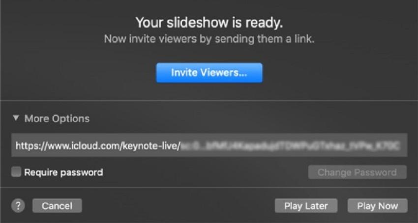 keynote play settings