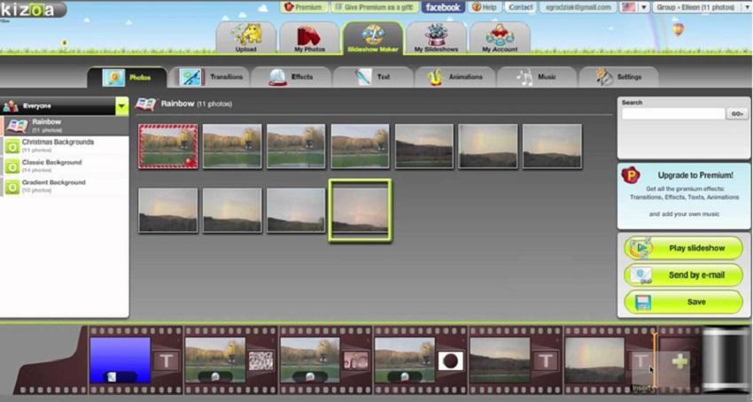 kizoa slideshow maker