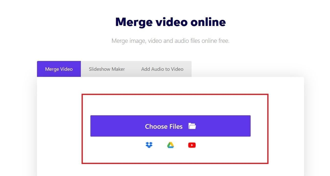 Upload the video files