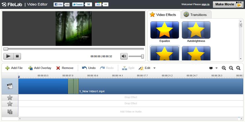 merge video and audio editor filelab