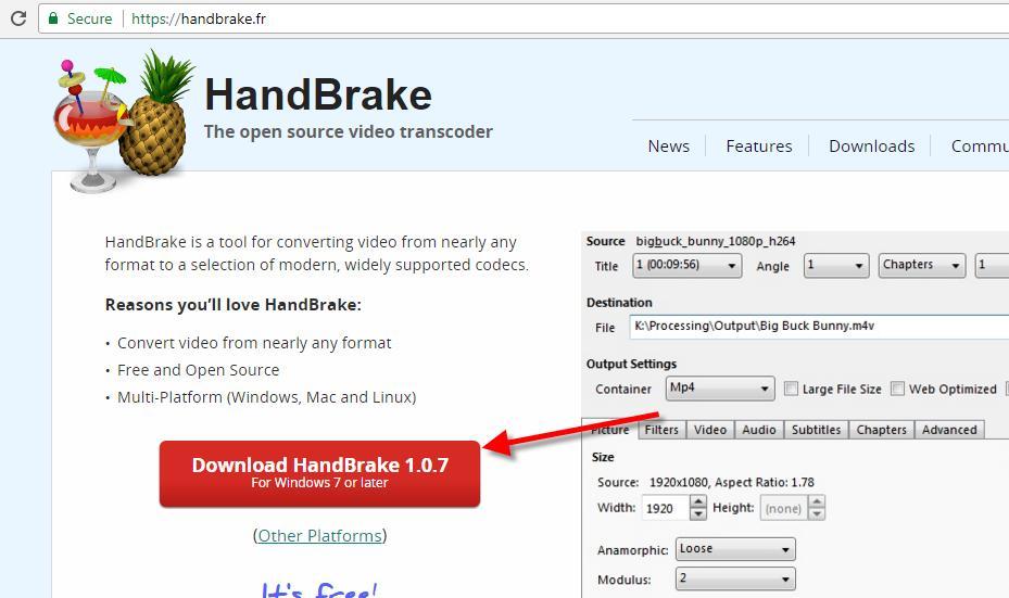 How to merge videos HandBrake