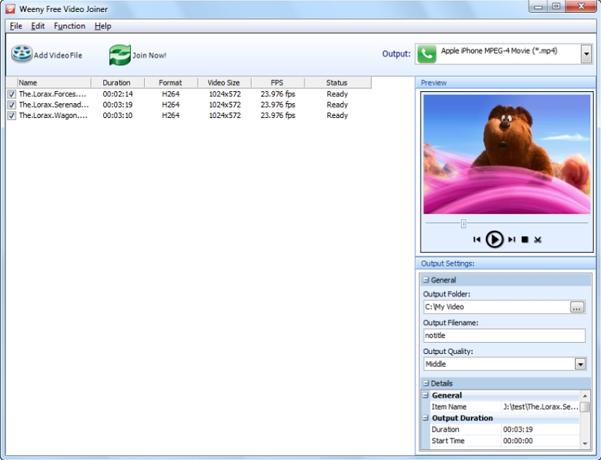 Weenysoft Free Video joiner