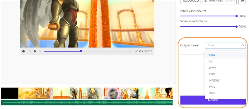 photo music video merger step 4