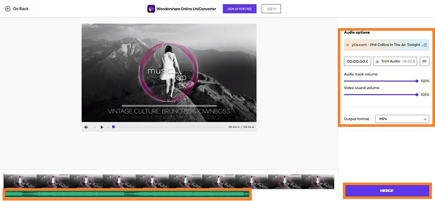 put music to video on uniconverter