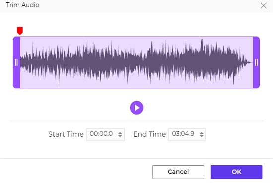 Add an audio file to use as background music