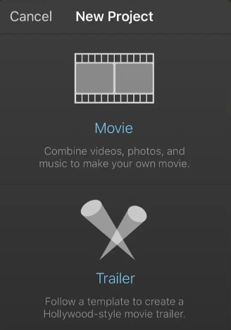 add video and hit create movie