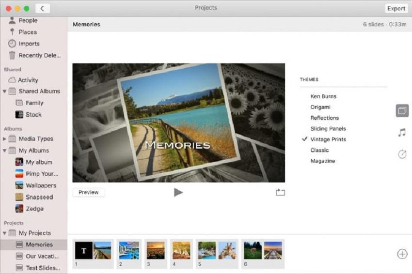 theme picker on photos