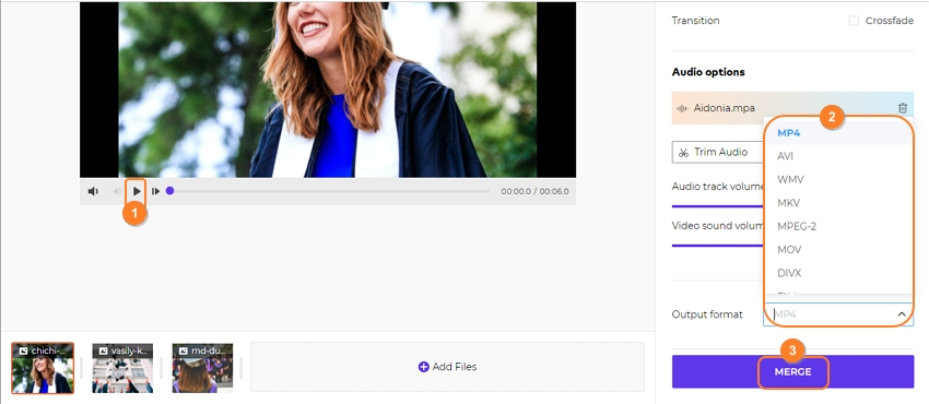 select wanted video output format