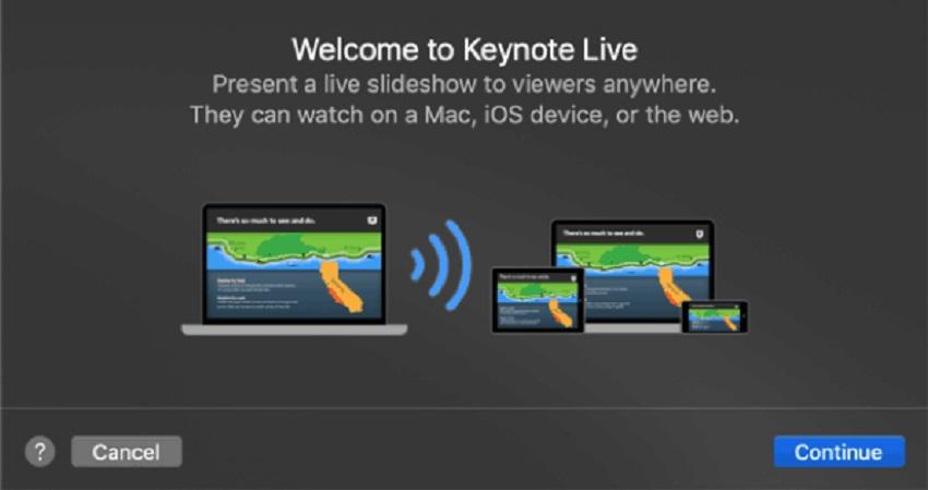 use keynote live