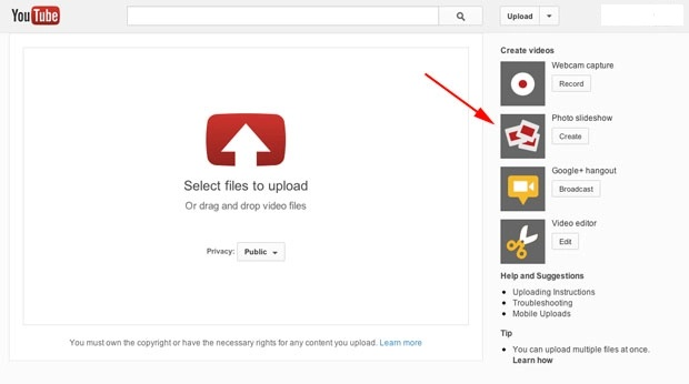 YouTube Slideshow