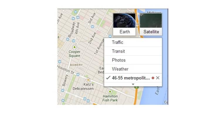 google-change-map-view