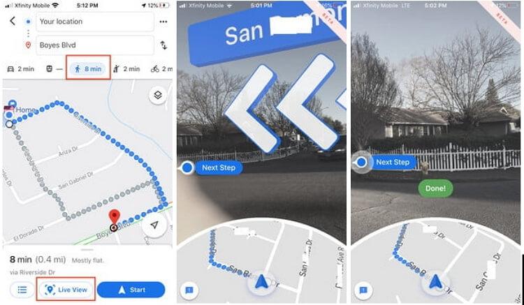 google-maps-live-view