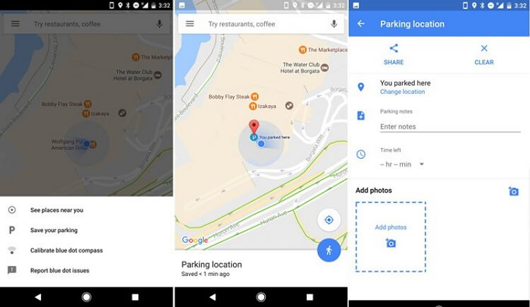 google-maps-save parking