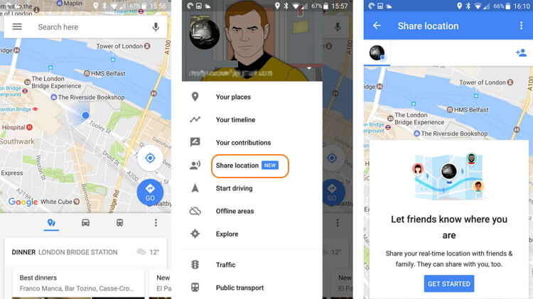 google-maps-sharing-locations