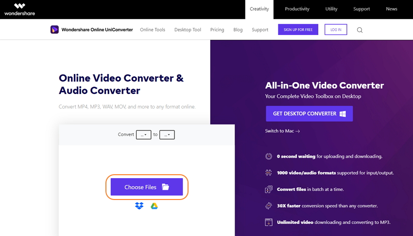 wondershare-online-uniconverter-convert-audio-1