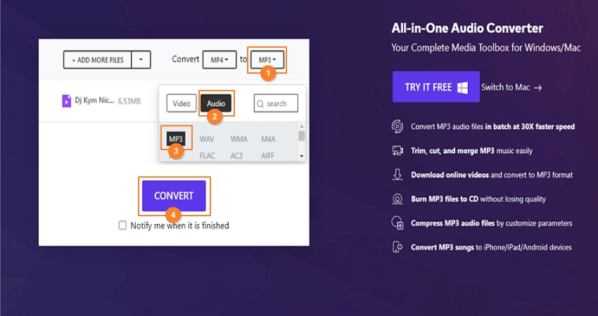convert mp4 to mp3 online
