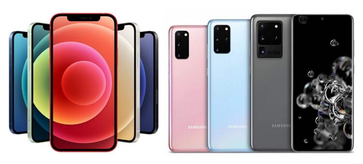 apple-iphone-12-samsung-galaxy-s20-color-design