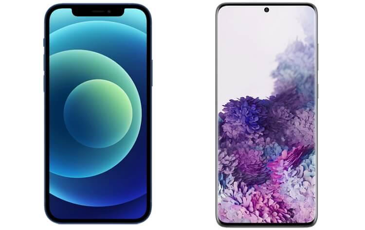 apple-iphone-12-samsung-galaxy-s20-display