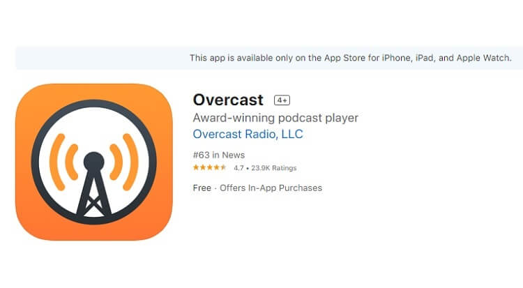best-podcast-apps-for-iphone-overcast-podcast-overcast