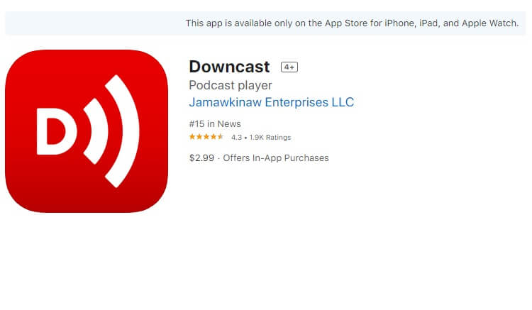 best-podcast-apps-for-iphone-downcast-podcast-downcast