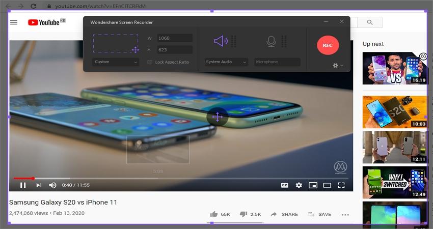 how-to-screen-record-iphone-wondershare-uniconverter-step-2