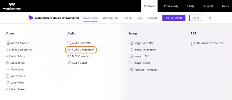 wondershare-online-uniconverter-audio-compressor-1
