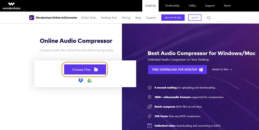 wondershare-online-uniconverter-audio-compressor-2