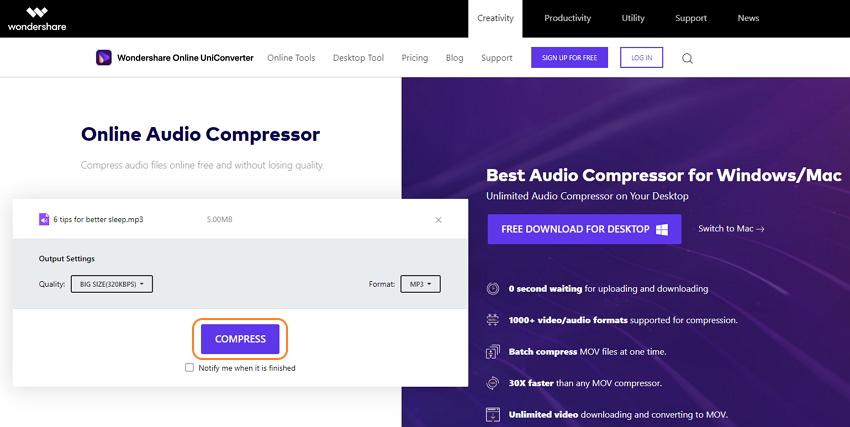 wondershare-online-uniconverter-audio-compressor-3
