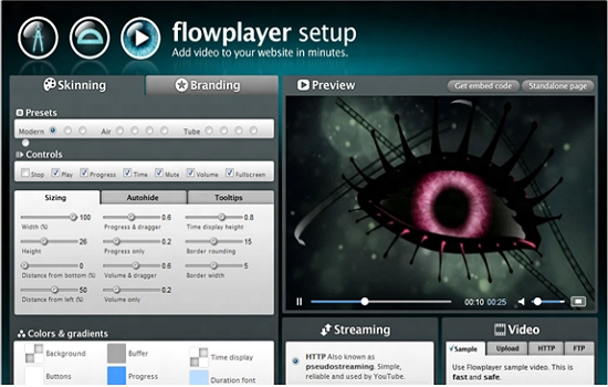 html5 video player for website