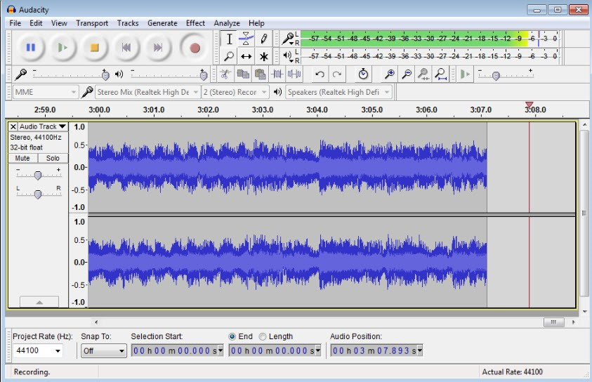 Youtube Voice Recorder-Audacity