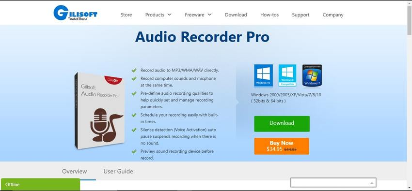 Best Audio Recording Software-GILISOFT