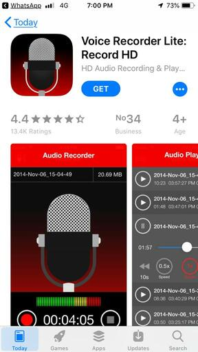 Best Audio Recording App-Voice Recorder Lite