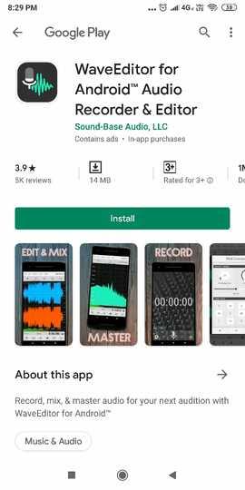 Fuuny Voice Recorder App-WaveEditor