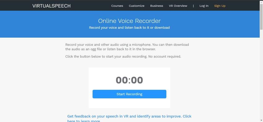 Voice Recording Tool-VIRTUALSPEECH