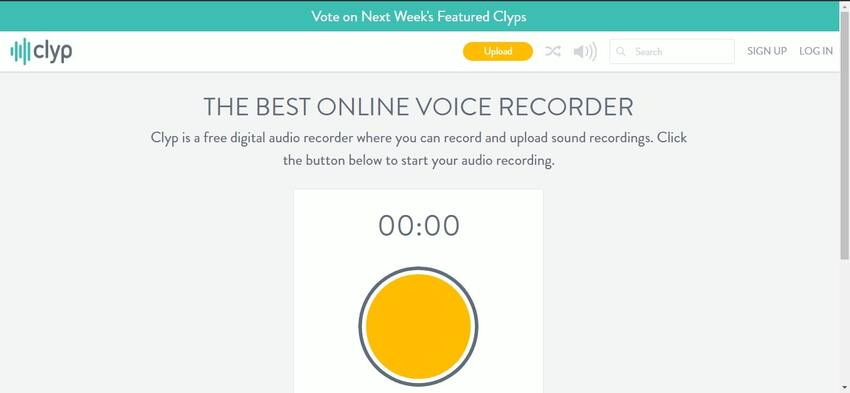 Online Voice Recorder for Free-Clyp