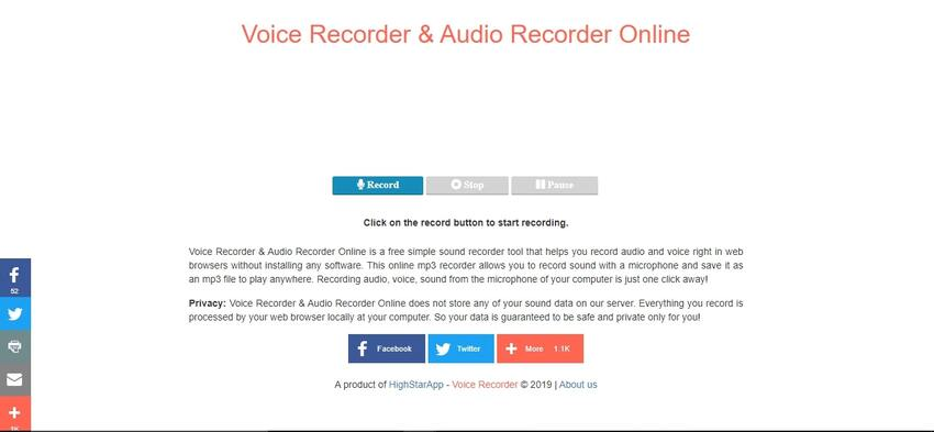 Voice Recorder and Audio Recorder Online
