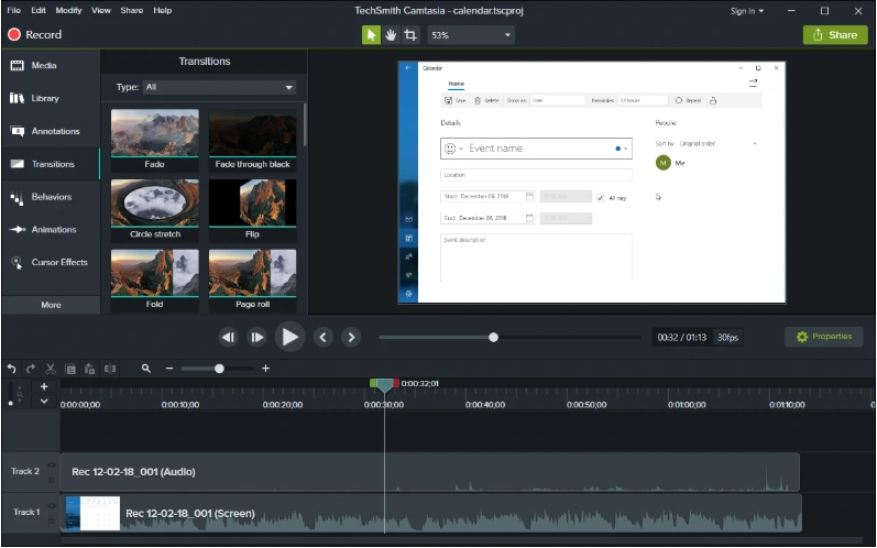 record on windows with camtasia