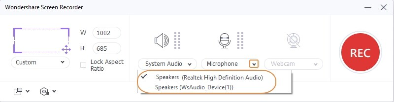 Set Microphone in UniConverter